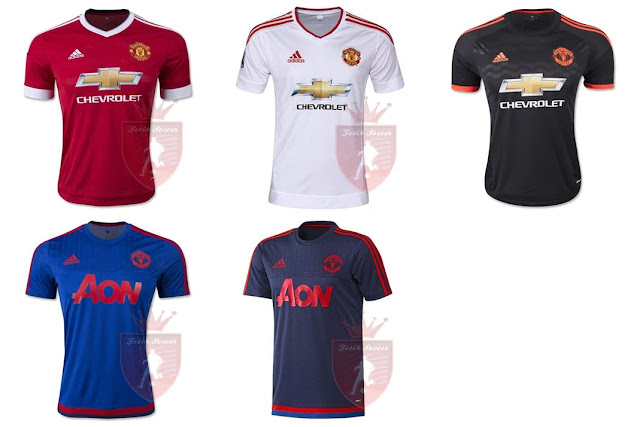 Jersey Manchester United Home, Away, Third 2015-2016