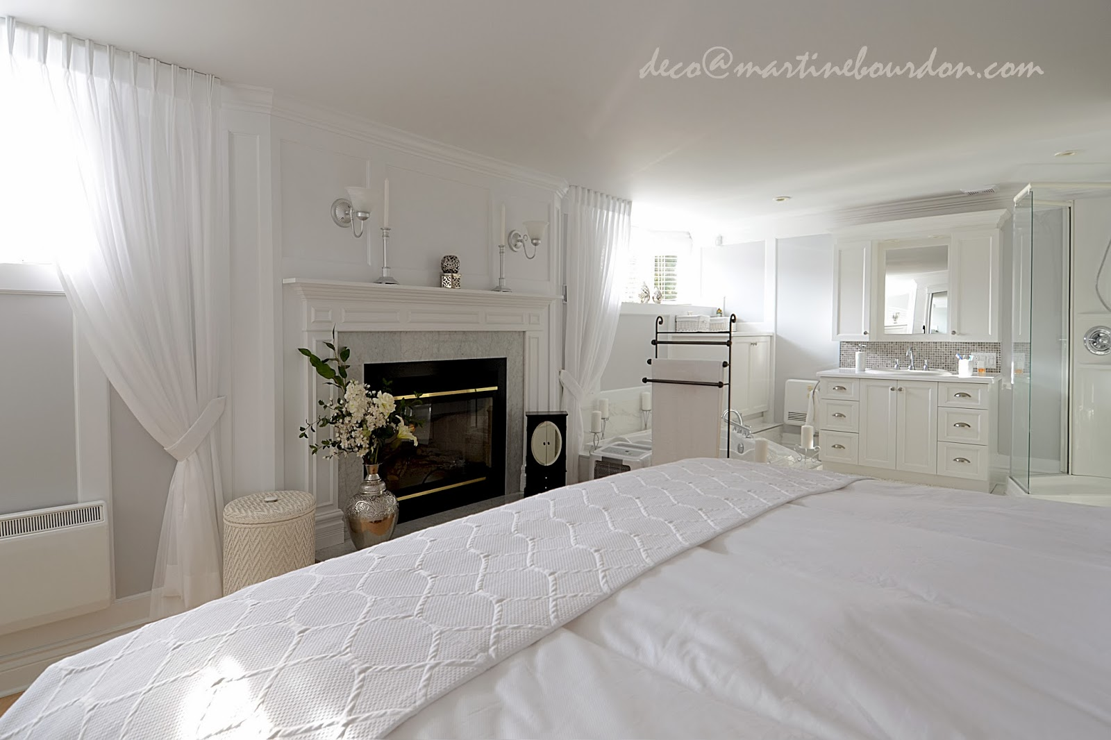 L 39 espace d co beaucoup de blanc un peu de gris chambre for Decoration chambre des maitres