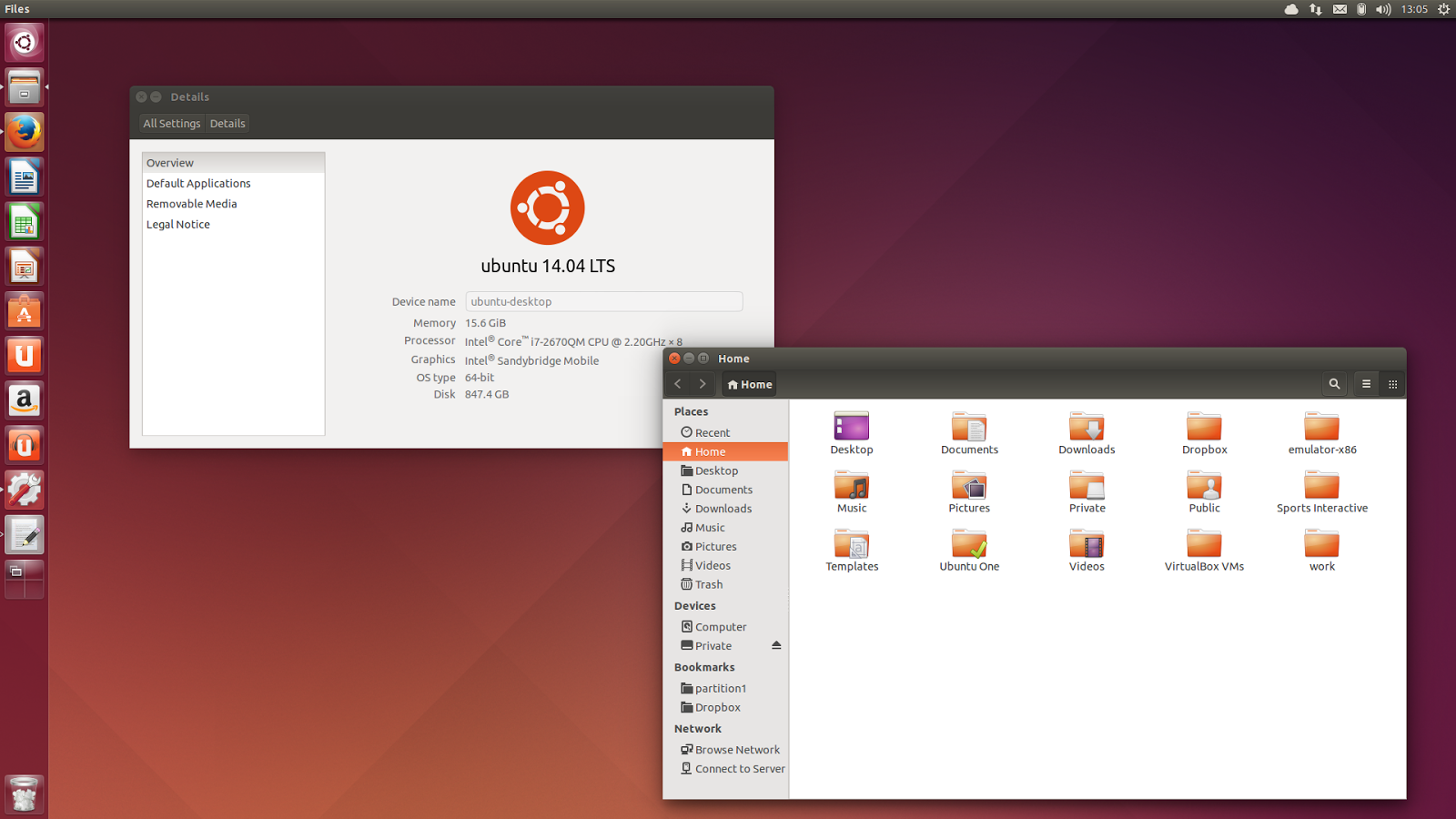 Ubuntu 14.04 Screenshot