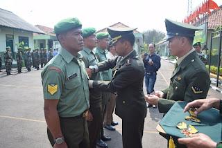 Naik Pangkat, 30 Anggota TNI Dituntut Tingkatkan Prestasi