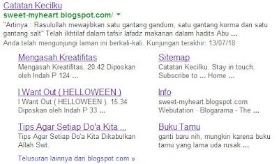 Mendapatkan Site Link Dari Google