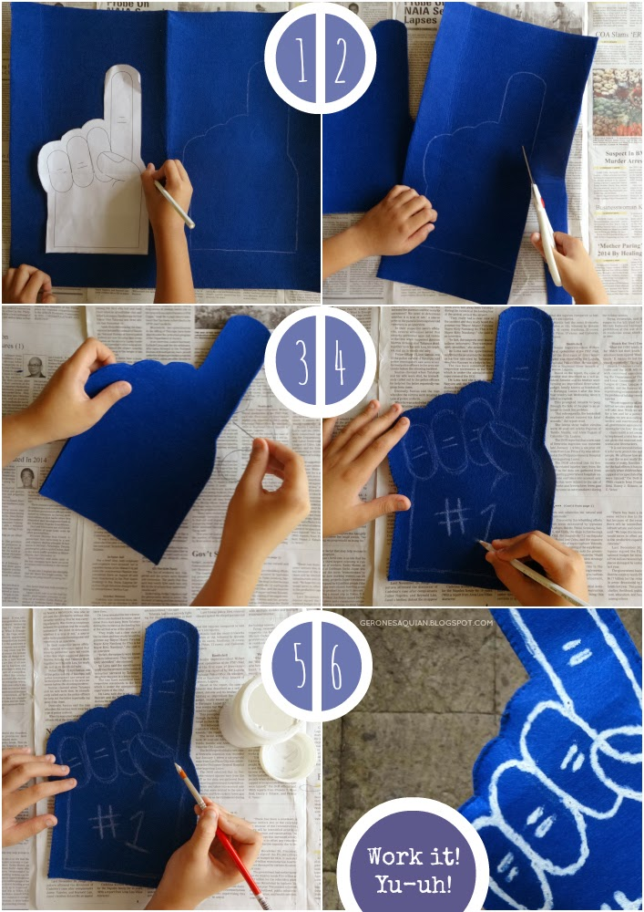 Gerone diy foam finger i have forgotten to take a picture of the materials i used oops ha ill list em down anyway so youll need a foam finger template there are pronofoot35fo Choice Image