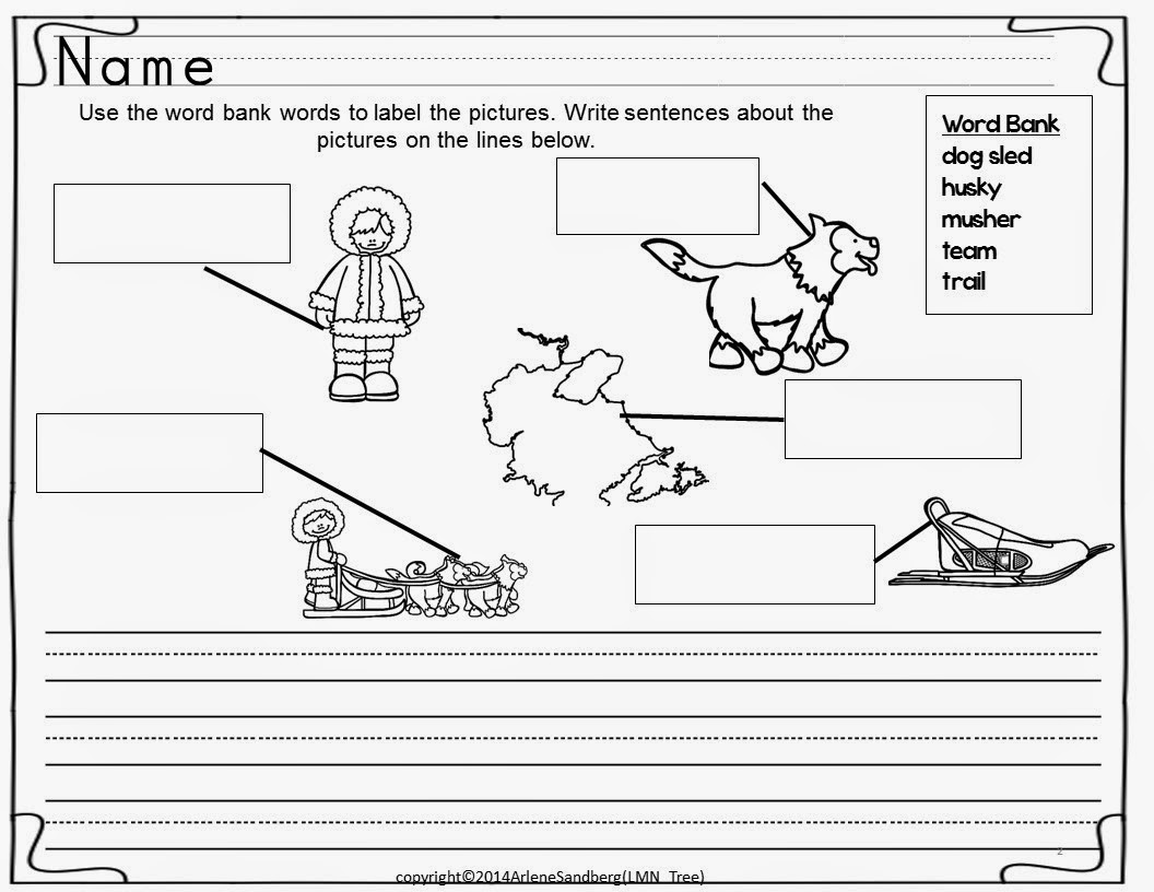 Iditarod Writing Activity Packet