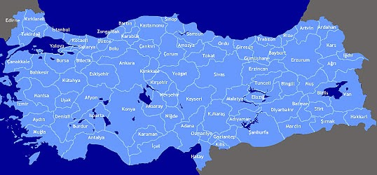 T�rkiye Karayollar� Haritas� (swf. format�nda)