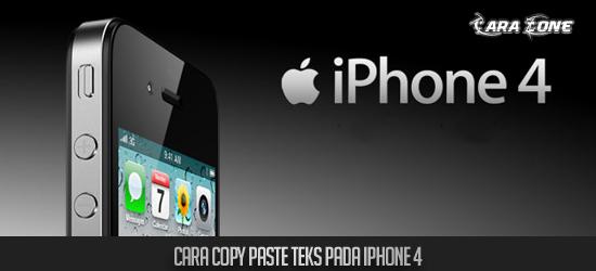 Cara Copy Paste Teks gambar Pada iPhone 4