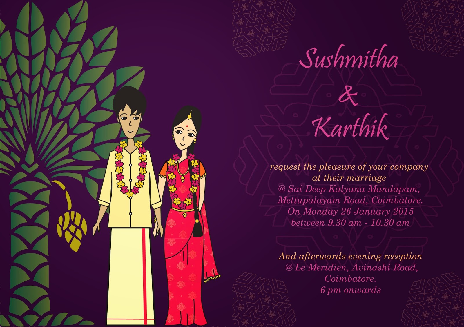 My Personalised Design! A South Indian Wedding Invite & a Gift Bag ...