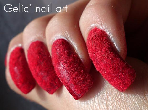 gelic' nail art red velvet nails