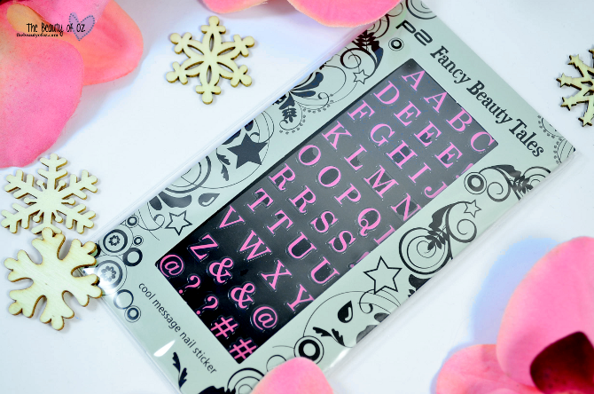 Review p2 Fancy Beauty Tales Cool Message Nail Sticker