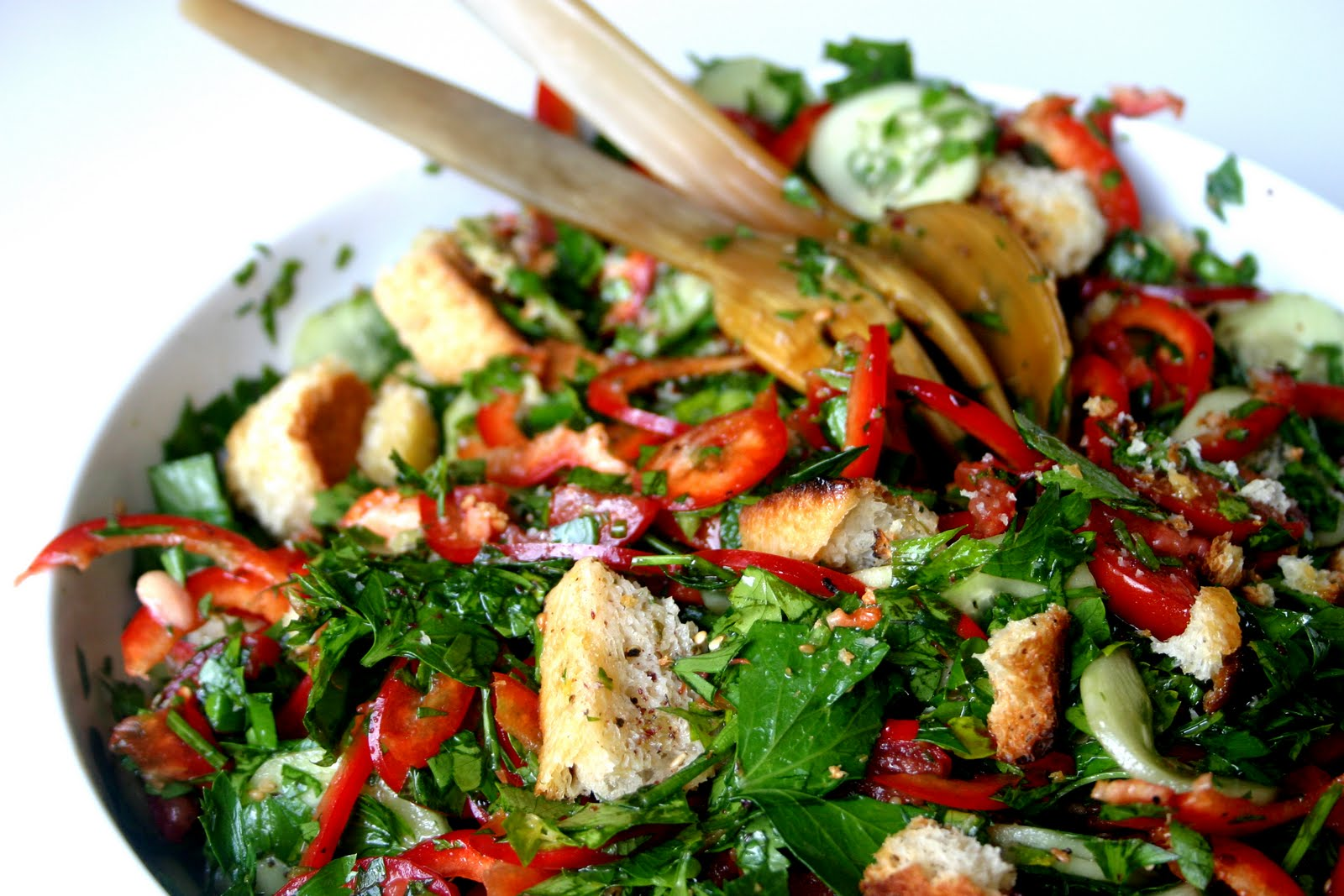 Nuts about food: Fattoush with za'atar croutons