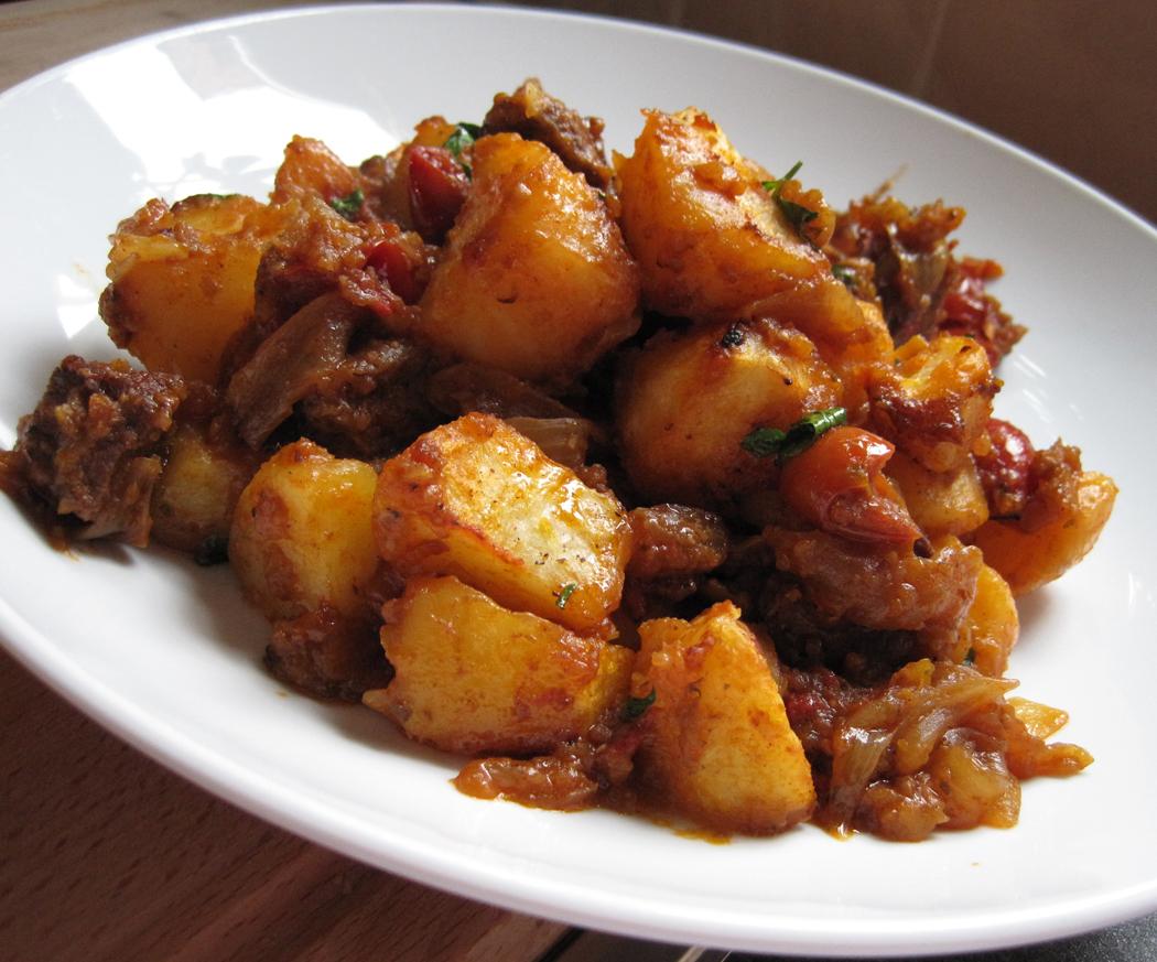 Glug of Oil : Steak, Potato and Onion Hash - Gastropub