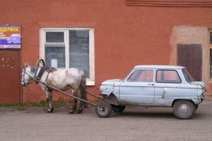 سيارة تعمل بطاقة حصان - Horse Powered Car