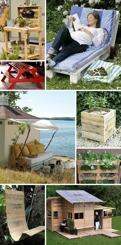 DIY Pallets of Wood : 30 Plans and Projects : Pallet Furniture Ideas