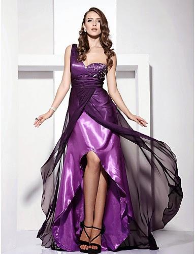 Vestido de Noche Morado Olesia