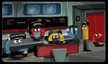 Google Doodle 46 aniversario Star Trek