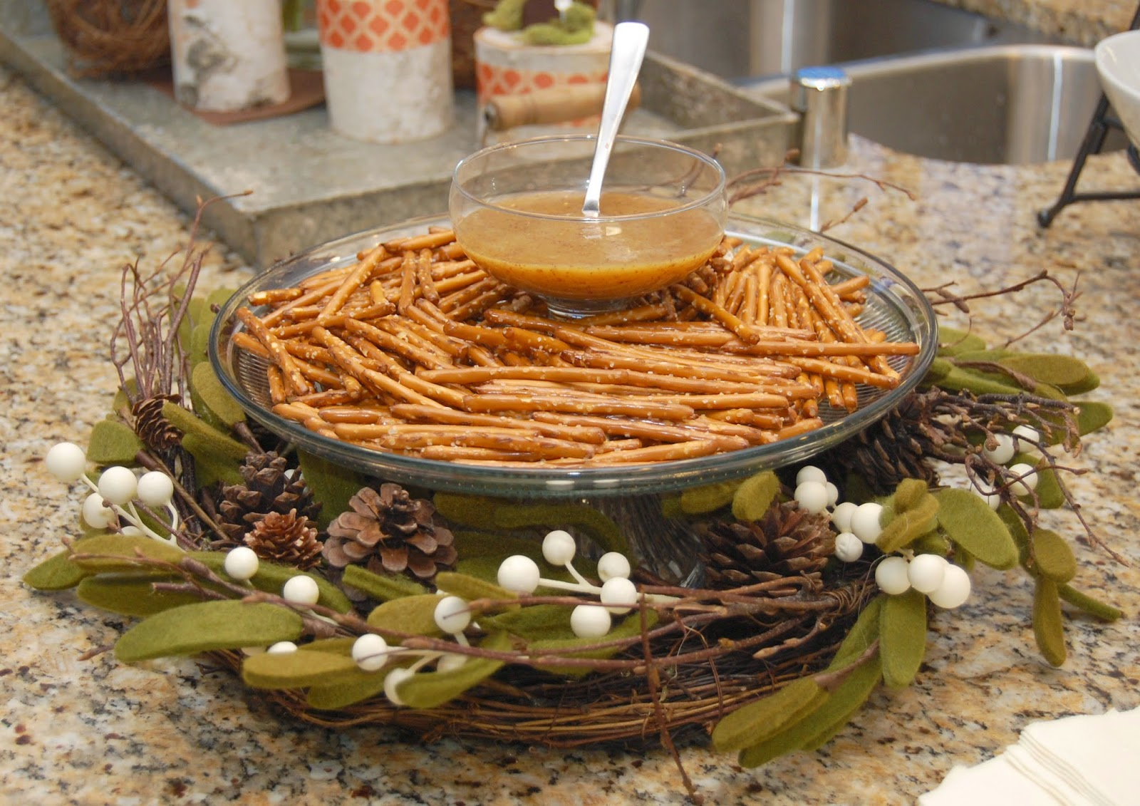 pretzels to look like twigs what a genius idea
