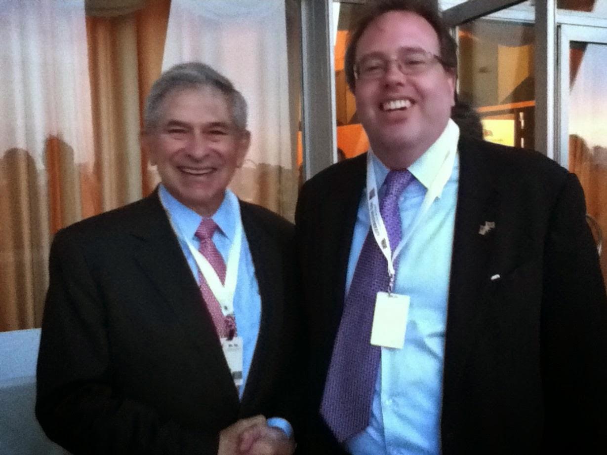 Ralph Winnie Jr. with Paul Wolfowitz