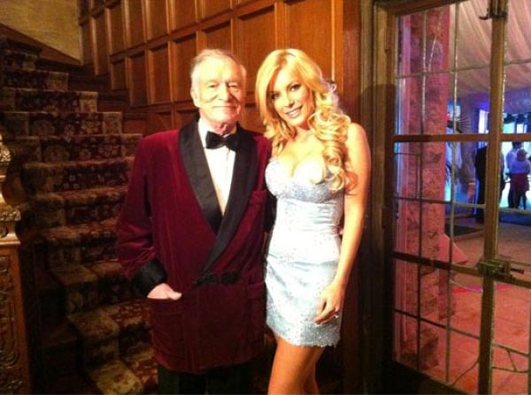 Hugh Hefner e Crystal Harris