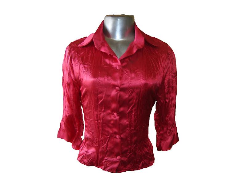 blusas amassada de cetim