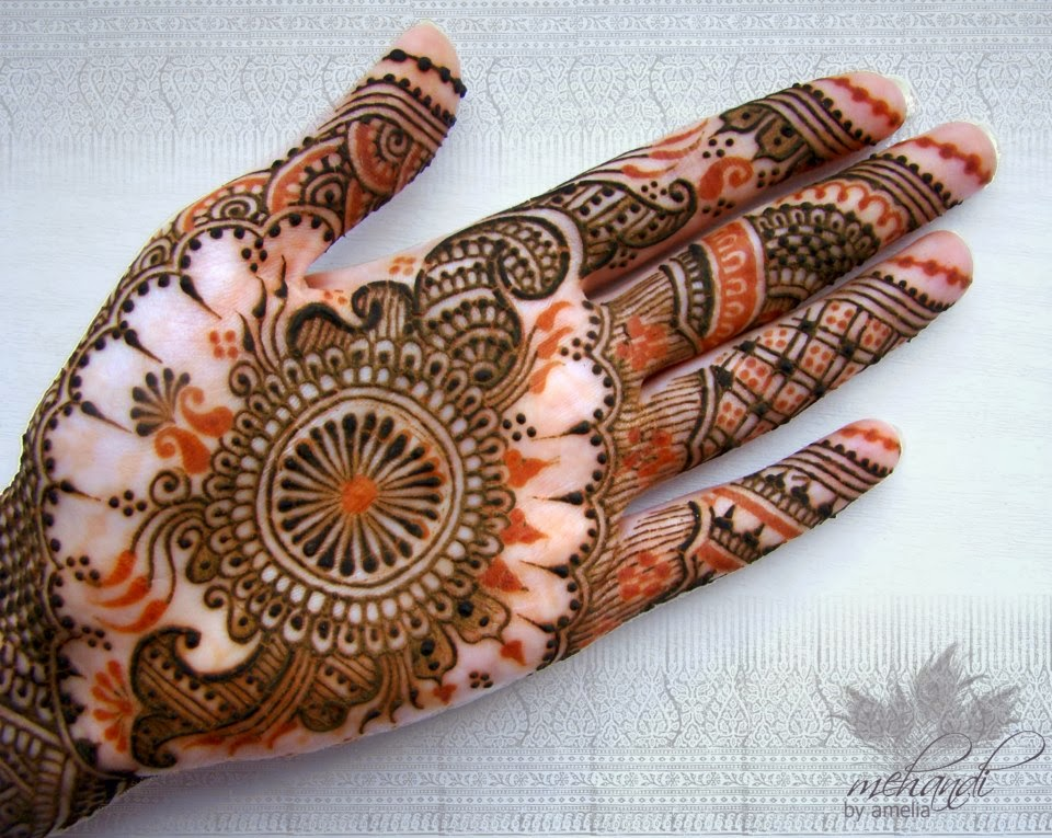 Latest Henna Mehndi Design : Amelia bridal mehndi latest eid designs