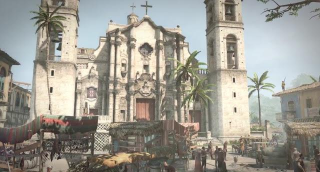 Havana Vieja in the videogame Assassin's Creed Black Flag