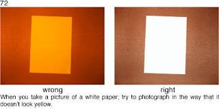 Совет 72. Если в кадре есть лист бумаги - он должен быть белого цвета, для этого надо следить за балансом белого на снимке.