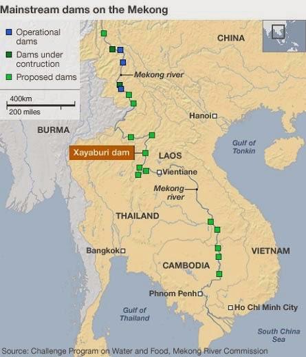 Staudämme Mekong