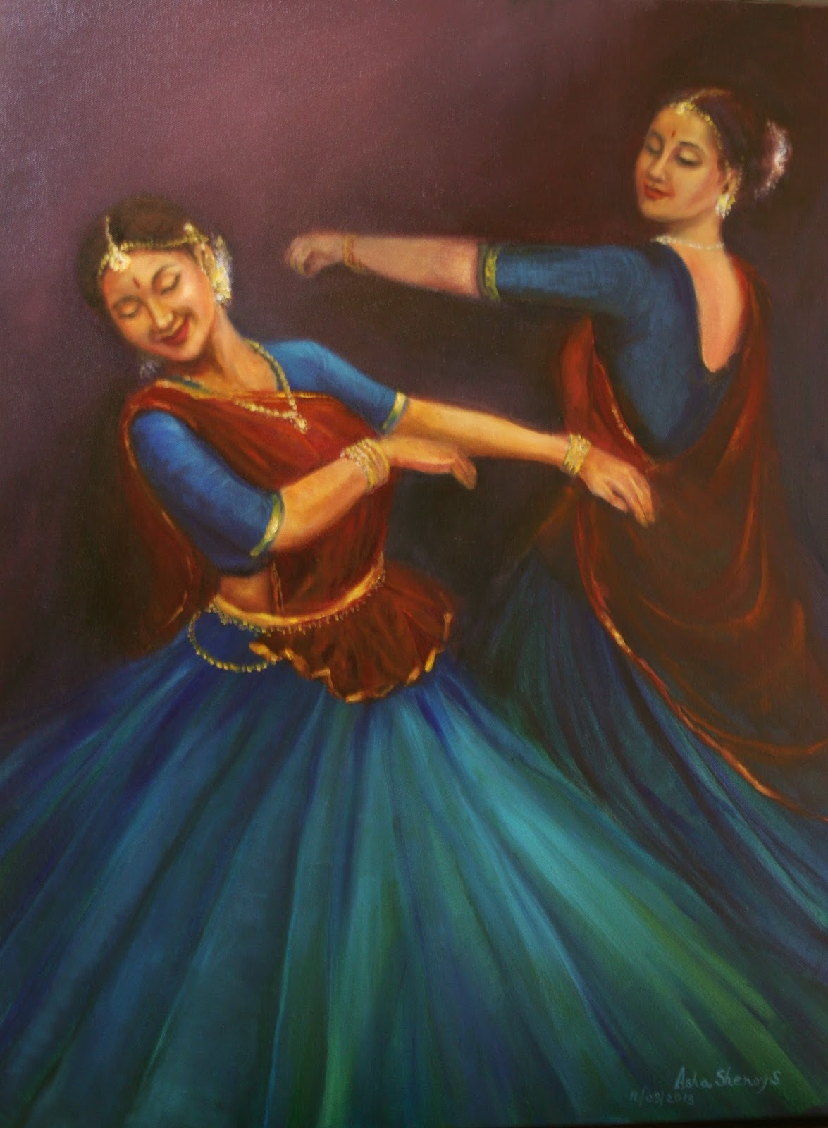 Painting by Asha Sudhaker Shenoy, Artist Profile at Art Scene India, Image cortesy artist