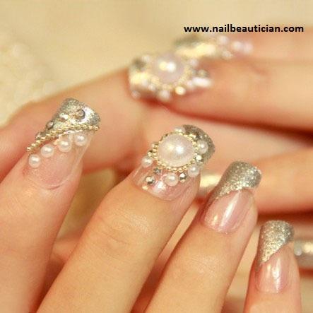 Nail Beautician Fancy Wedding Nail Art