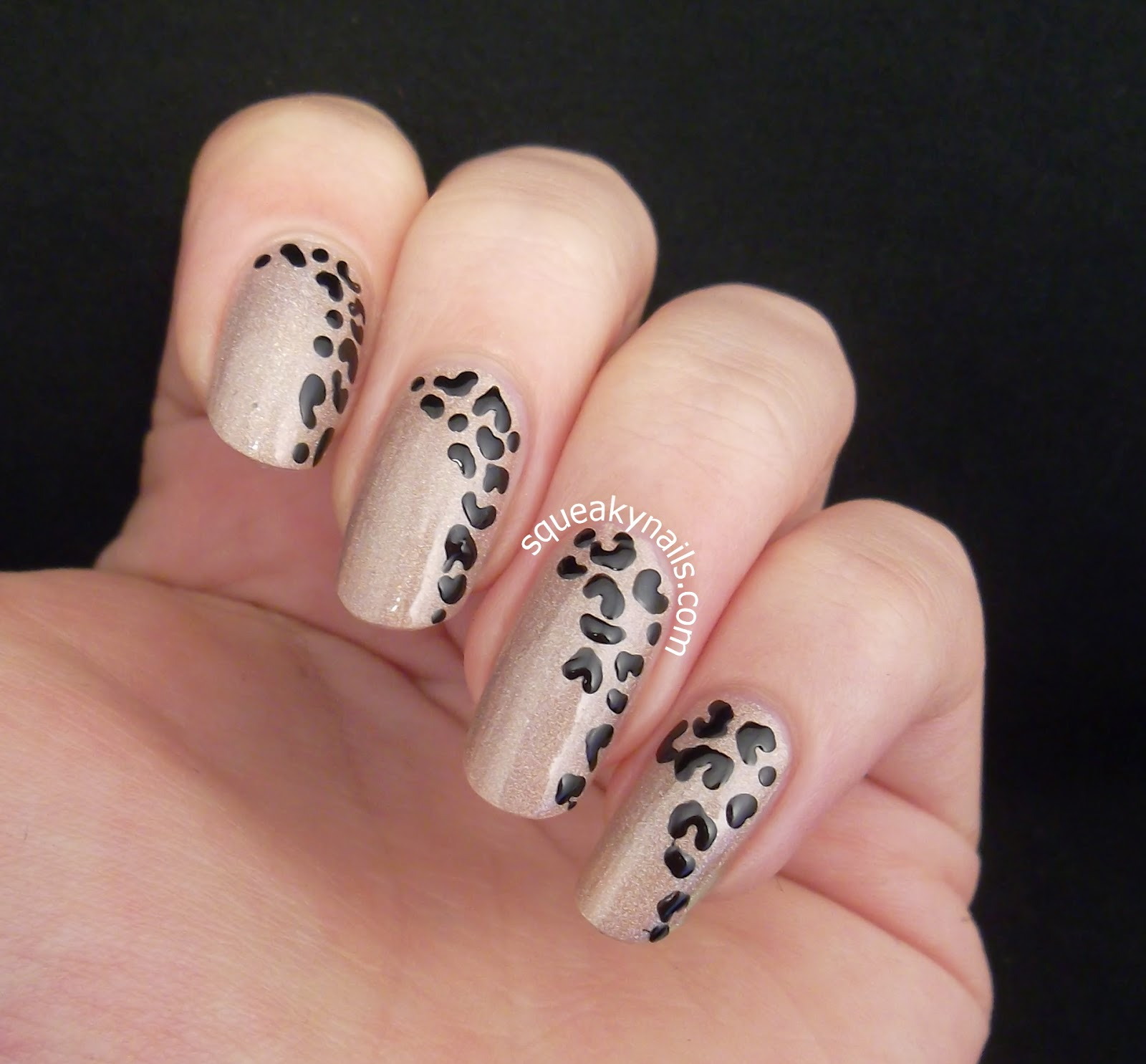 Simple Leopard Nail Art on Canvas Lacquer Flaunt It | Squeaky Nails