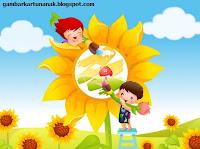 gambar kartun anak sholeh