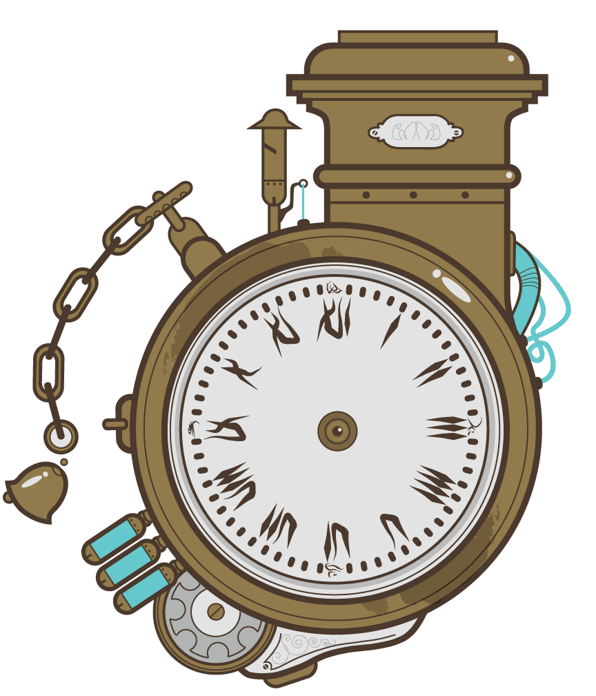 Steampunk Clock Vector a Steampunk Themed Clock