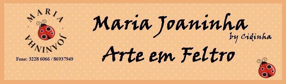 maria joaninha by cidinha arte em feltro
