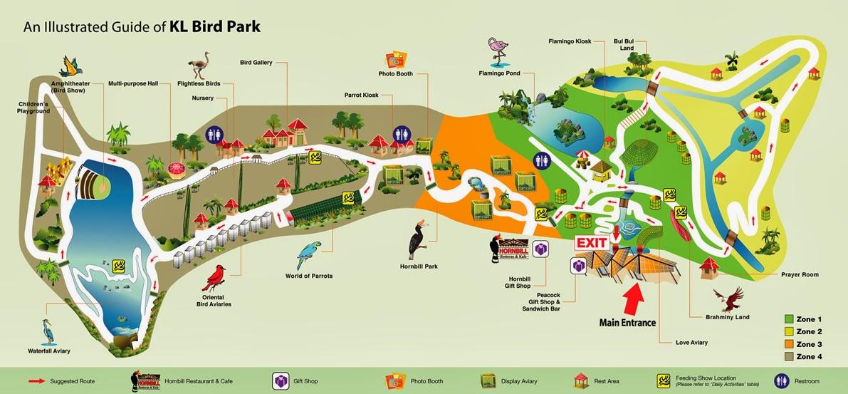 Jalanjalan kl bird park kuala lumpur map of the park gumiabroncs Choice Image