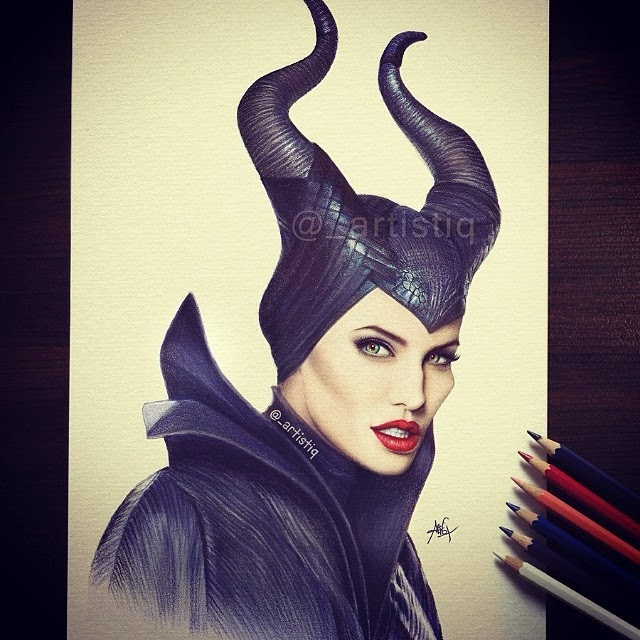 15-Maleficent-Angelina-Jolie-Cas-_artistiq-Colored-Celebrity-and-Cartoon-Drawings-www-designstack-co