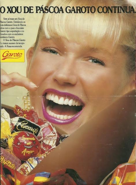 Propaganda da Garoto com a Xuxa - Xou de Páscoa - 1990.