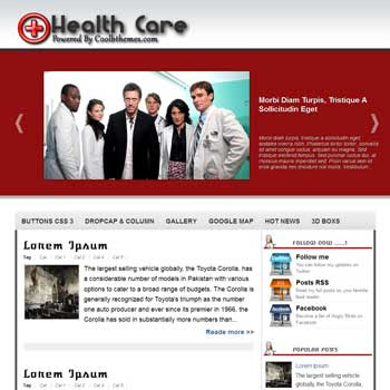Health Care blogger template. template blogspot free