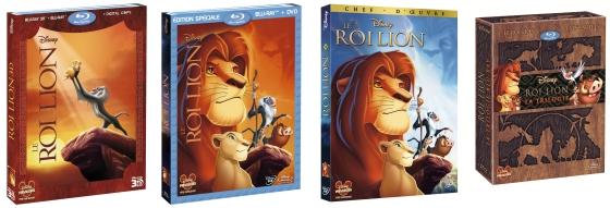 Le Roi Lion en Blu-ray, Blu-ray 3D et DVD