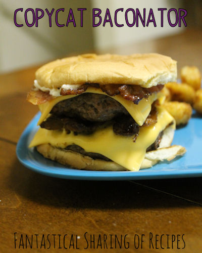 Baconator Burger {Copycat} | It doesn't get better than a burger loaded with bacon #recipe