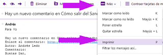 imprimir un correo en yahoo mail