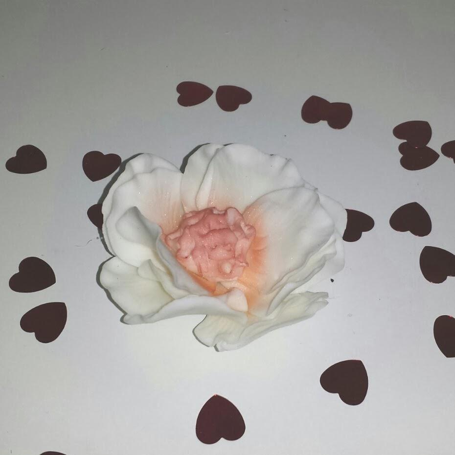 sockerpasta blomma steg för steg