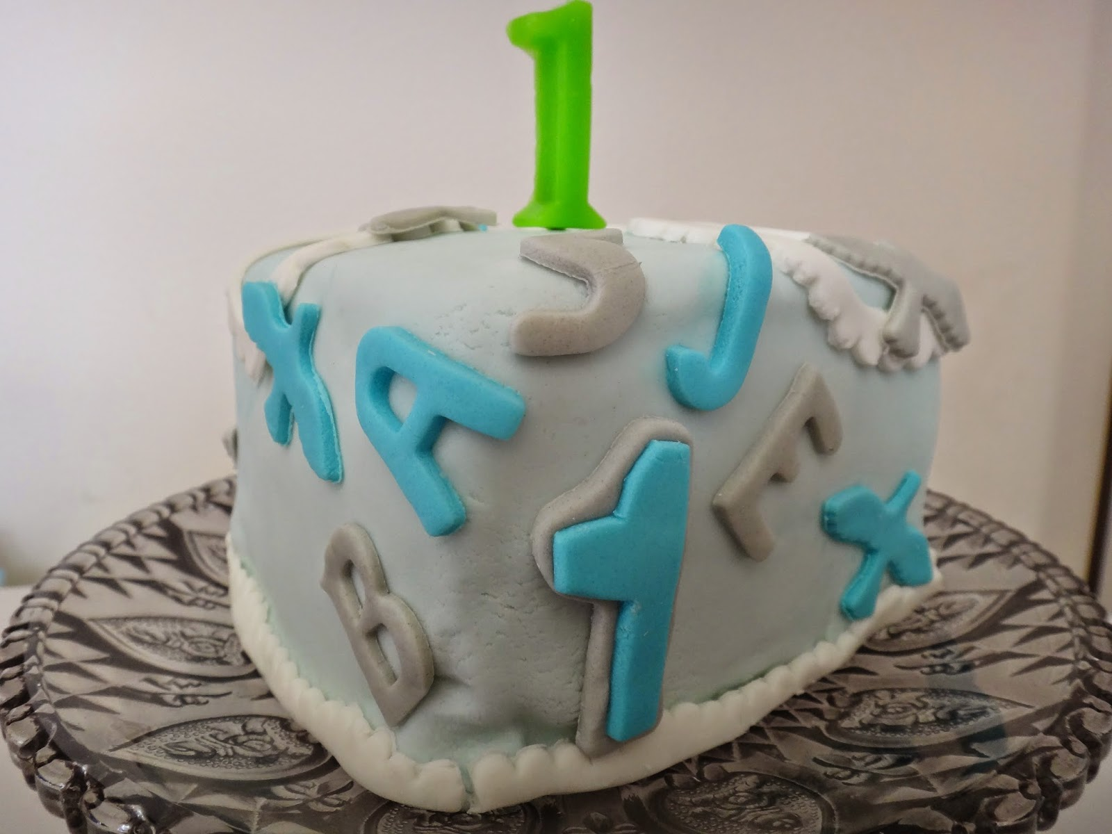 My Mini Bites Baby Boy 1st Birthday Cake