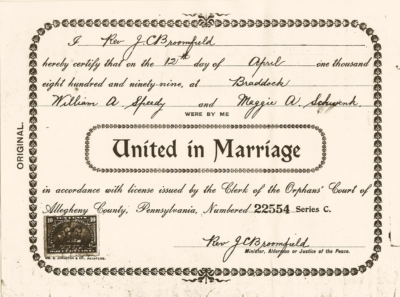 Cubbage Genealogy Wedding Wednesday Marriage Certificates