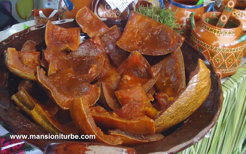Mexican Sweet Pumpkin Dessert made by the Traditional Cooks of Michoacan