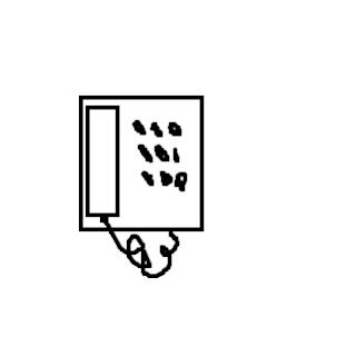 Desenho como desenhar Telefone residencial pintar e colorir