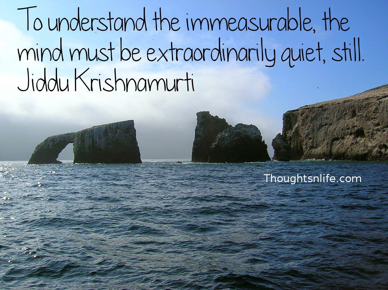 Thoughtsnlife.com: Thoughtsnlife.com: To understand the immeasurable, the mind must be extraordinarily quiet, still. Jiddu Krishnamurti