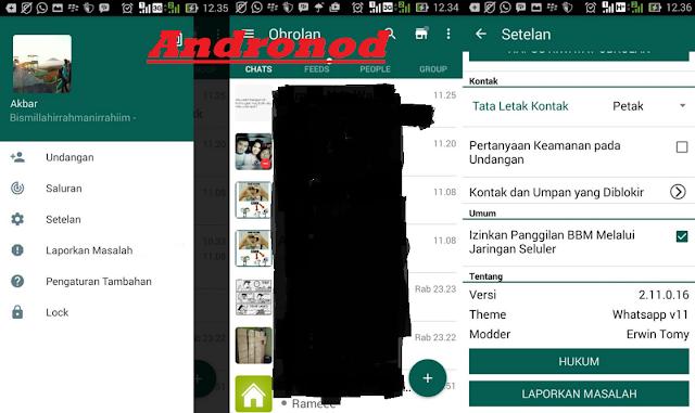 Kumpulan BBM Mod Tema Messenger Versi 2.11.0.16 Terbaru