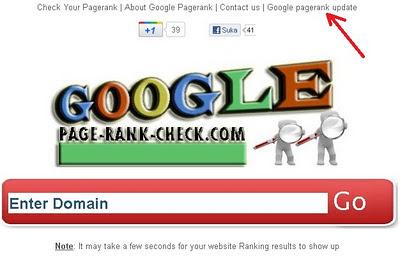 Cara Mengetahui Jadwal google page rank checker