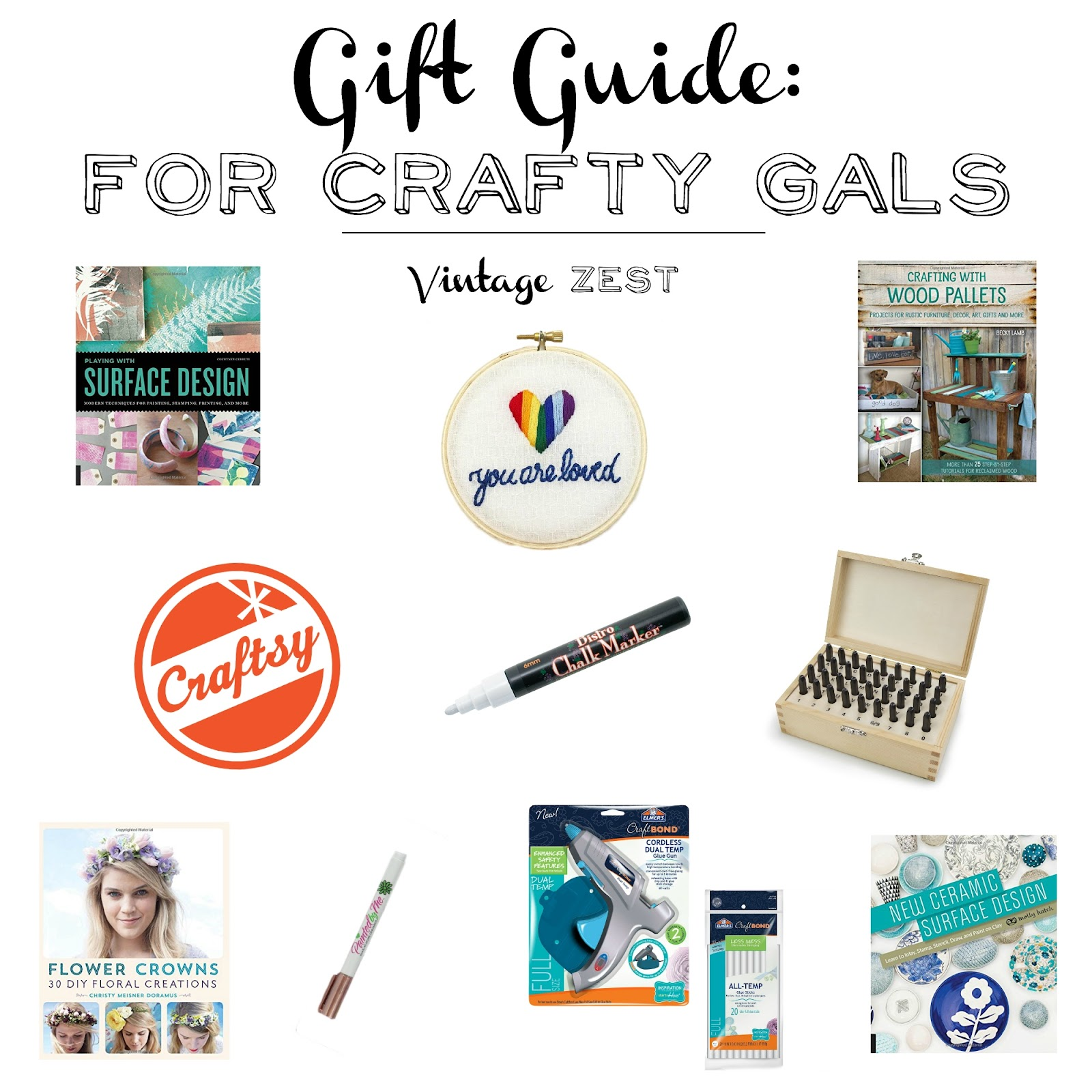 Gift Guide: for Crafty Gals on Diane's Vintage Zest!  #holiday #gift #presents