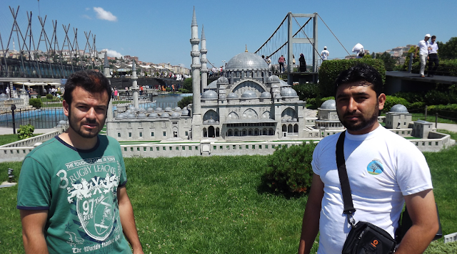 A model of Sultan Ahmed Mosque at Miniaturk Gezisi park