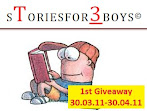 @30 april : sToriesfor3boys 1st Giveaway